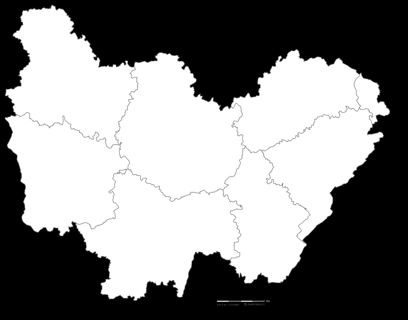 carte région bourgogne franche comté Carte gratuite de Bourgogne Franche Comté