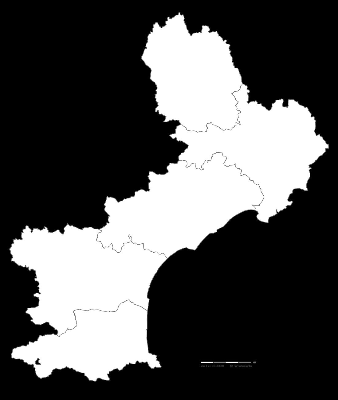 Carte Languedoc Roussillon.Carte Gratuite Du Languedoc Roussillon