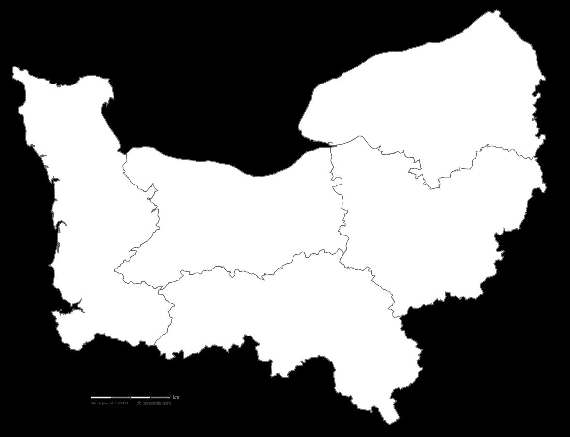 Carte Normandie Departement.Carte Gratuite De Normandie